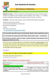 Les mesures de masses – CM1 – CM2 – 6ème – SEGPA – EREA – Décrochage scolaire