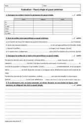 Passé simple et passé antérieur – 5ème – Evaluation