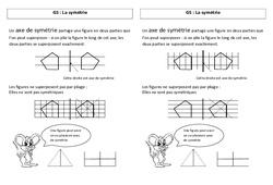 Symétrie - Ce2 - Leçon