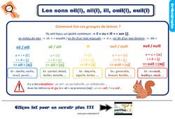 Leçon, trace écrite sur les sons eil(l), ail(l), ill, ouil(l), euil(l) – Ce2