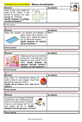 Mesure du périmètre – CM1 – CM2 – 6ème – SEGPA – EREA – Problèmes et vie quotidienne