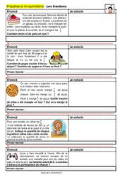 Les fractions - CM1 - CM2 - 6ème - SEGPA - EREA - Problèmes et vie quotidienne