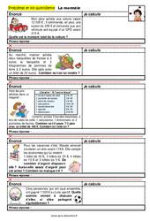 La monnaie - CM1 - CM2 - 6ème - SEGPA - EREA - Problèmes et vie quotidienne