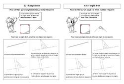 Angle droit – Leçon – Ce2 – Géométrie – Cycle 3