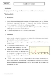 Analyse spectrale - Terminale - Cours