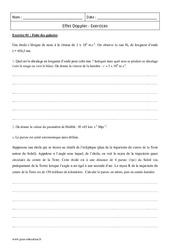 Doppler – Terminale – Exercices corrigés