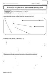 Droites – Segments – Ce1 – Bilan à imprimer