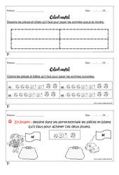 Calcul mental – Cp – Exercices et bilan – Semaine 5 à 8