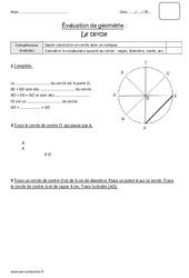 Cercle - Cm1 - Bilan
