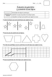 Symétrie d'une figure – Cm1 – Bilan