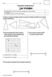 Triangles - Cm1 - Bilan à imprimer