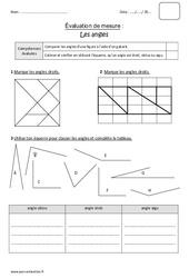 Angle droit, obtus ou aigu – Cm1 – Bilan