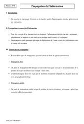 Propagation de l'information - Terminale - Cours