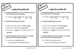 Adjectif qualificatif - Cm1 - Leçon