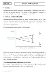 Spectres RMN du proton - Terminale - Cours