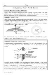 Lecture d'un CD - Stockage optique - Terminale - Exercices à imprimer