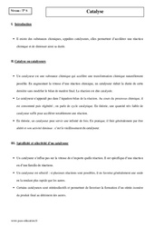 Catalyse – Terminale – Cours