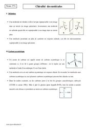 Chiralité  des molécules - Terminale - Cours