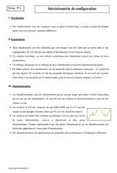 Stéréoisomérie de configuration - Terminale - Cours