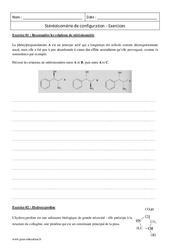 Stéréoisomérie de configuration - Terminale - Exercices