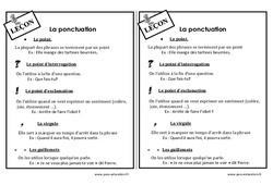 Ponctuation - Ce1 - Leçon