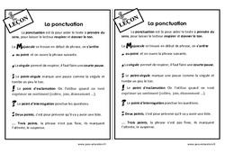 Ponctuation - Ce2 - Leçon à imprimer