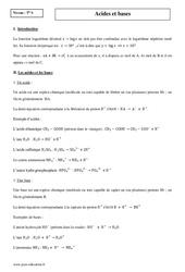 Acides et bases – Terminale – Cours