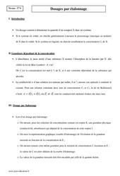 Dosages par étalonnage - Terminale - Cours
