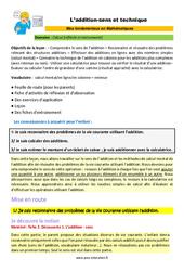 L'addition – sens et technique – CM1 – CM2 – 6ème – SEGPA – EREA – Décrochage scolaire