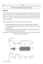 Récepteurs sonores - Émetteurs - Terminale - Exercices