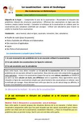 La soustraction – sens et technique – CM1 – CM2 – 6ème – SEGPA – EREA – Décrochage scolaire