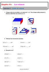 Unités de volume – 6ème – Révisions – Exercices avec correction
