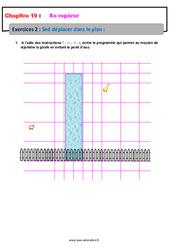 Se déplacer dans le plan – 6ème – Révisions – Exercices avec correction