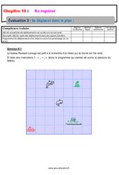 Se déplacer dans le plan - 6ème - Evaluation avec la correction