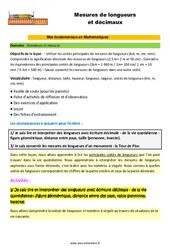 Mesures de longueurs et décimaux – CM1 – CM2 – 6ème – SEGPA – EREA – Décrochage scolaire