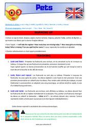 Pets – CE1 – CE2 – Anglais – Lexique – Séquence complète – Cycle 2