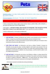 Pets – CM1 – CM2 – Anglais – Lexique – Séquence complète – Cycle 3