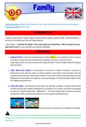 Family – CE1 – CE2 – Anglais – Lexique – Séquence complète – Cycle 2