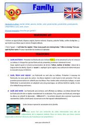 Family – CM1 – CM2 – Anglais – Lexique – Séquence complète – Cycle 3