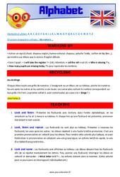 Alphabet – CE1 – CE2 – Anglais – Lexique – Séquence complète – Cycle 2