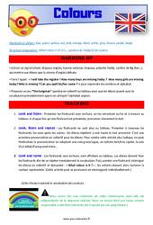 Colours – CM1 – CM2 – Anglais – Lexique – Séquence complète – Cycle 3