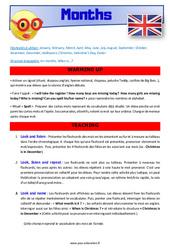 Months – CM1 – CM2 – Anglais – Lexique – Séquence complète – Cycle 3
