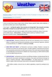 Weather – CE1 – CE2 – Anglais – Lexique – Séquence complète – Cycle 2