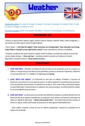 Weather – CM1 – CM2 – Anglais – Lexique – Séquence complète – Cycle 3