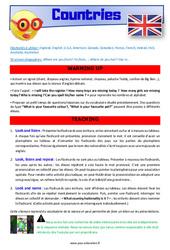 Countries - CM1 - CM2 - Anglais - Lexique - Séquence complète - Cycle 3