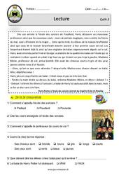 Harry Potter à l'école des sorciers - CM1 - CM2 - Lecture - EDL