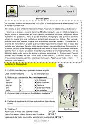 Vivre en 2050 – CE1 – CE2 – Lecture – EDL