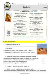 Le lion et le rat – Fable – CE1 – CE2 – Lecture – EDL