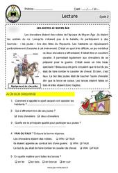 Les joutes du Moyen-Age – CE1 – CE2 – Lecture – Documentaire historique – EDL