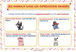 Les animaux dans les expressions imagées - Cycle 2 - Affiche de classe